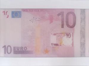 Alma Heikkilä: 10€ (Portrait one: Money only refers to it self), 2014